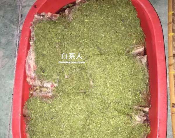 安吉白茶腌制的腊肉